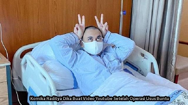 Komika Raditya Dika Buat Video Youtube Setelah Operasi Usus Buntu